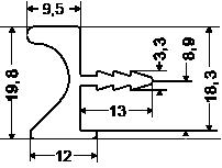 Uchwyt krawędziowy aluminiowy UKW-4